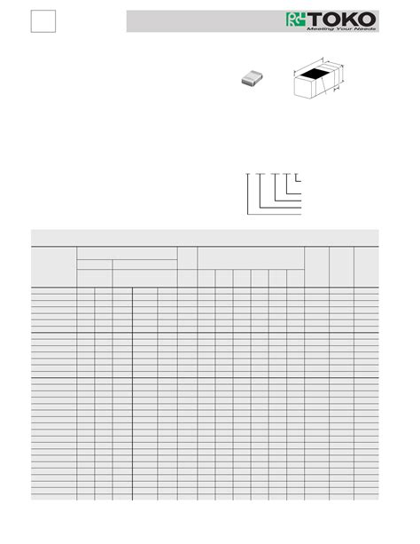 toko chip inductor ll2012fhl datasheet multilayer chip inductors