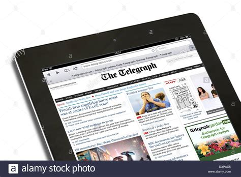 ipad app news telegraph weekly launches ipad edition t3 reading the internet edition of th telegraph online