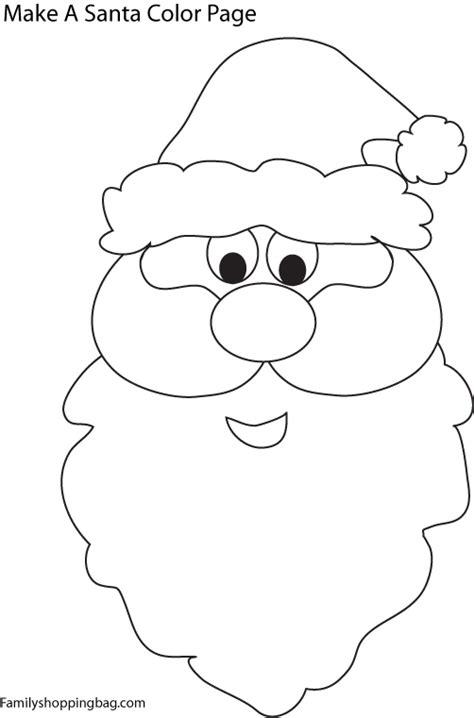 free coloring pages of santa s face santa face 709270 jpg