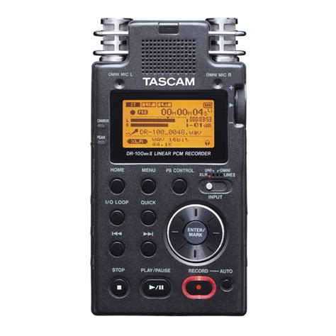 tascam dr 100 mkii portable audio recorder at gear4music