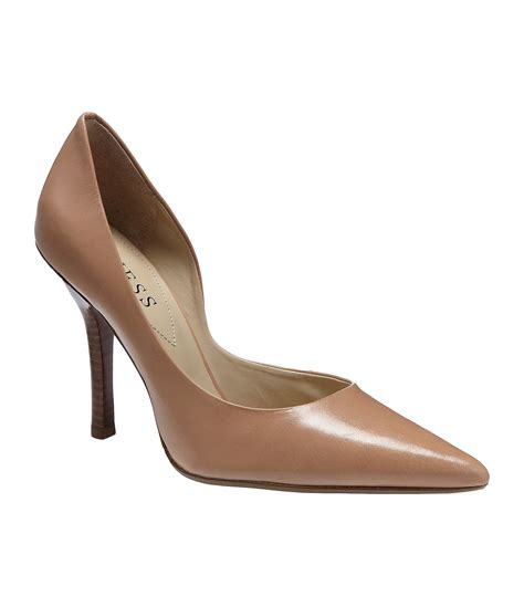 lyst guess carrie dorsay pumps  brown
