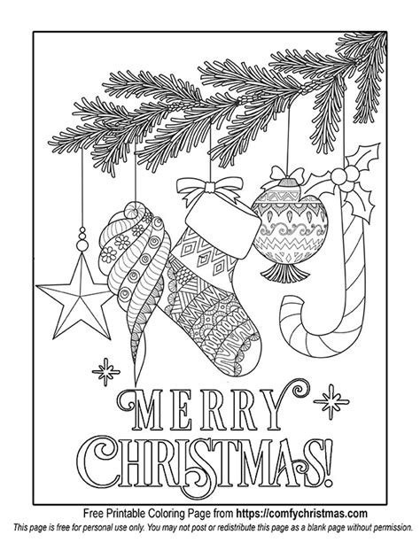 free printable christmas coloring pages comfy christmas