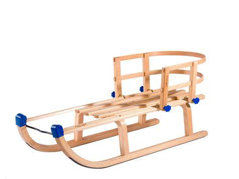 nijdam slee houten slee met rugleuning 100cm sleeshop nl