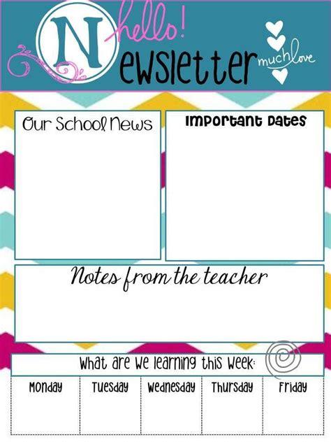 kindergarten classroom newsletter template school newsletters say quot hello quot best parents ideas