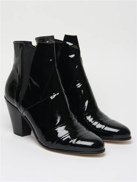 high cuban heel boots the gareth pugh s patent cuban heel boot for autumn