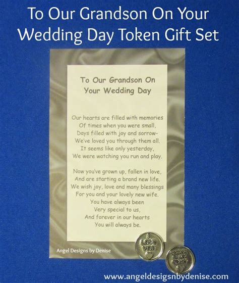 7 Ways To On Your Wedding Day by To Our Grandson On Your Wedding Day Token Gift Set This