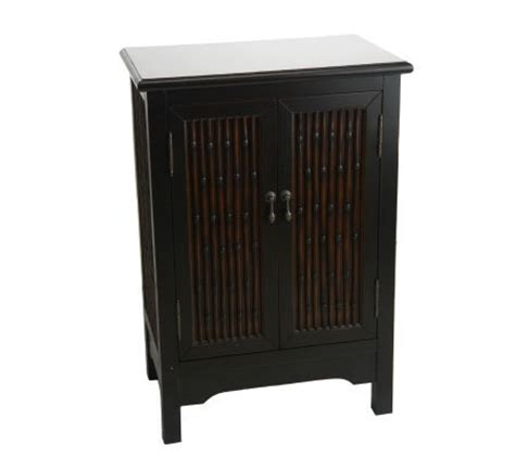 bombay 32 inch faux bamboo storage cabinet page 1 qvc