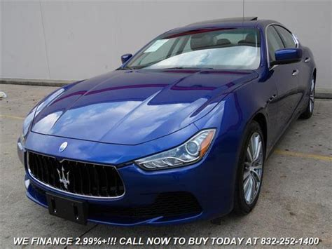 maserati houston maserati ghibli used cars in houston mitula cars