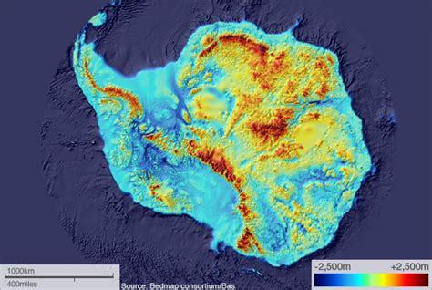 bedrock map reveals free antarctica australian