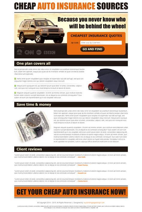 auto insurance landing page designs  improve  conversion