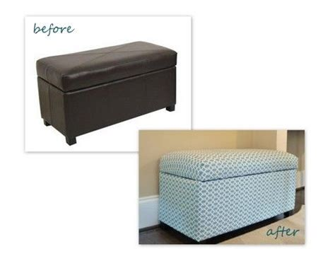 recover leather ottoman ottoman storage bench woodworking projects plans