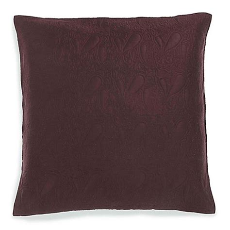 european bed pillows buy bed inc jade quilted european pillow sham in brown from bed bath beyond