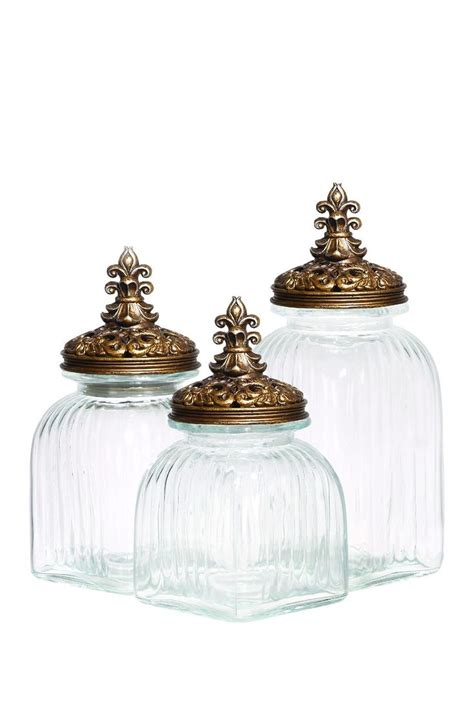 bathroom glass canisters glass canisters pinterest glasses canisters and