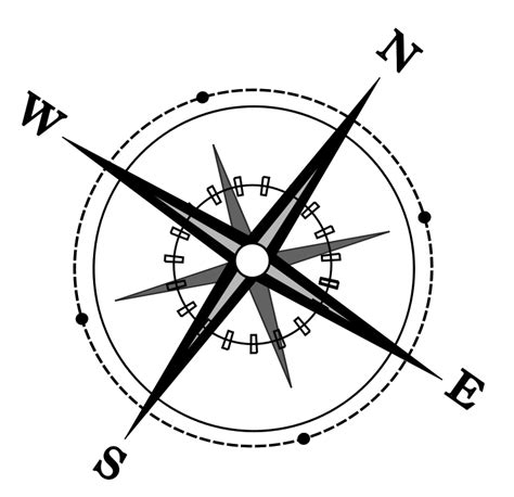 line drawing compass clipart best antique compass drawing png
