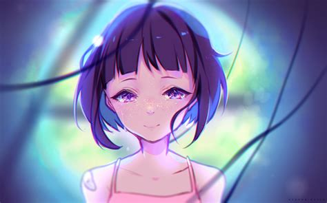 anime girl short hair wallpaper download 1922x1200 anime girl crying tears short hair