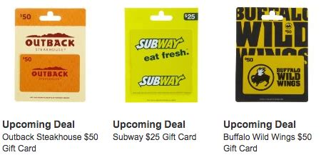 Outback Gift Card Deal - gift card deals outback subway more