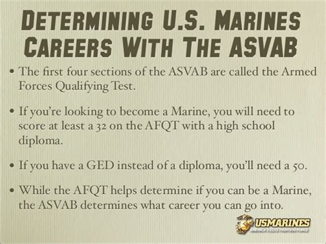 sections of the asvab u s marines careers learning how you can serve