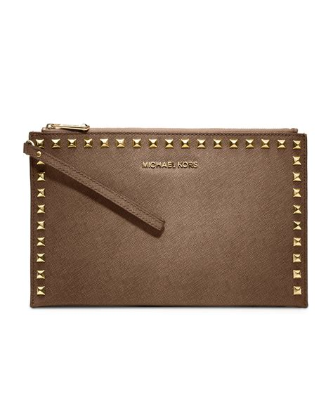 Michael Kors Studded Clutch michael by michael kors large selma studded saffiano