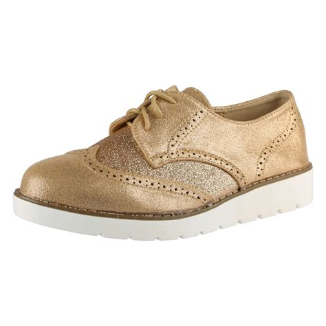 oxford loafers womens shoes womens brogues lace up glitter shimmer two tone
