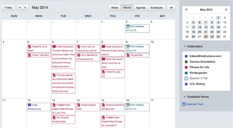 design calendar canva k 12 lms features canvas learning management system