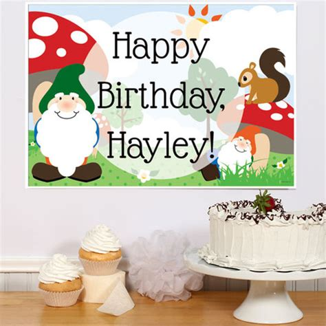 gnome personalization themes gnome party personalized party poster