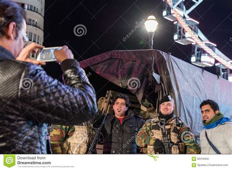 the deadly travellers complete 0745159133 soldiers in brussels editorial image image 63418350