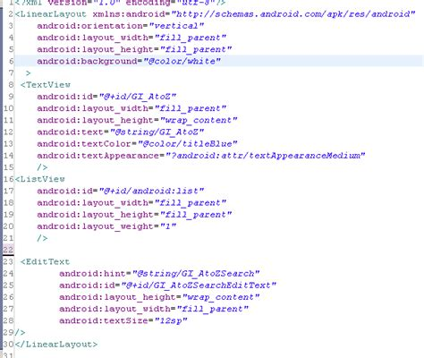 custom view layout xml android how to write a custom filter for listview with