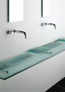 bathroom sinks slim glass bathroom sink linea washplane 174 seafoam