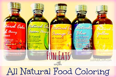 organic food coloring food with all food coloring just add