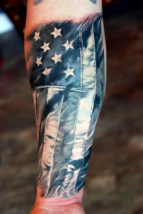 black and gray american flag tattoo 100 american tattoos