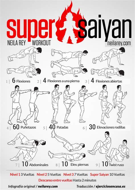 imagenes de ejercicios para workout 161 aumenta tu ki con esta rutina saiyayin