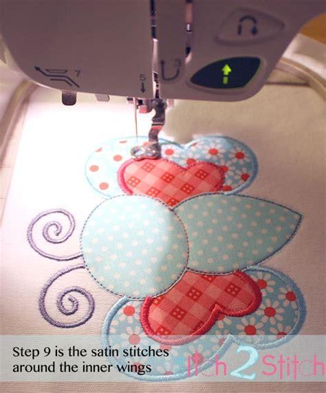 embroidery appliqu 233 tutorial and free design machine