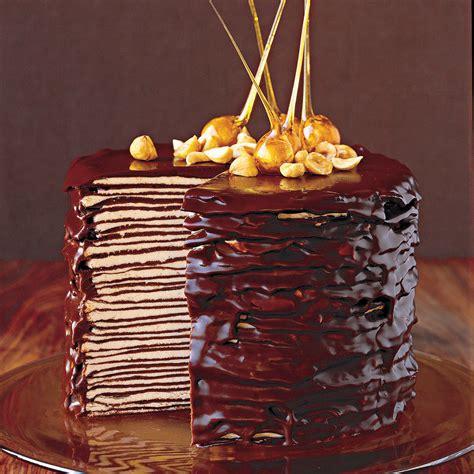 darkest chocolate crepe cake recipe video martha