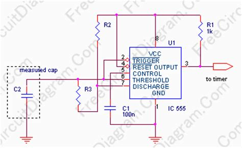 capacitance meter circuits capacitance meter using 555 oscillator circuit diagram world