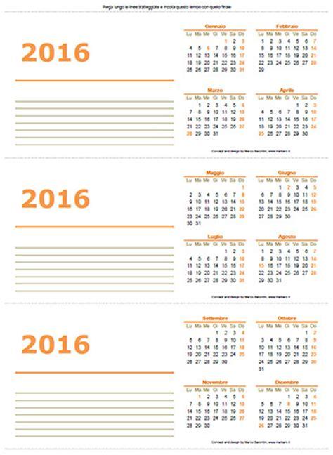 calendario scrivania 5 calendari 2016 da tavolo o scrivania