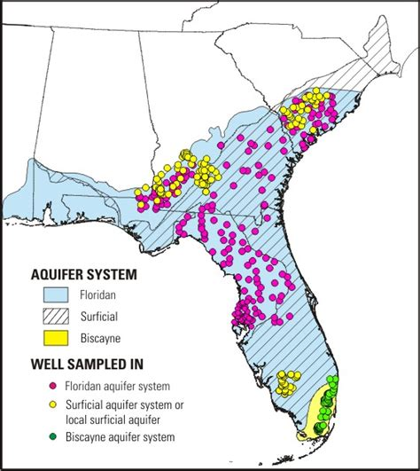 florida water table depth floridan aquifer state of water state of change