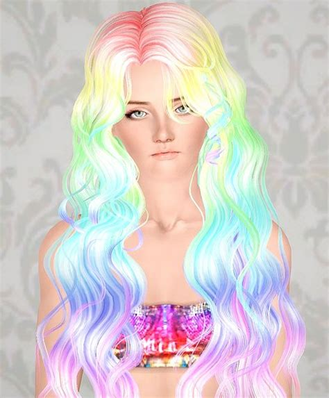 hair color to download for sims 3 poseidon sims three rainbow d hairs for everyone the set
