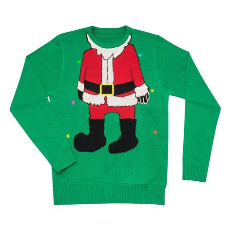 Mr Christmas Christmas Sweater In Green With Santa Image Sweaters For With Lights