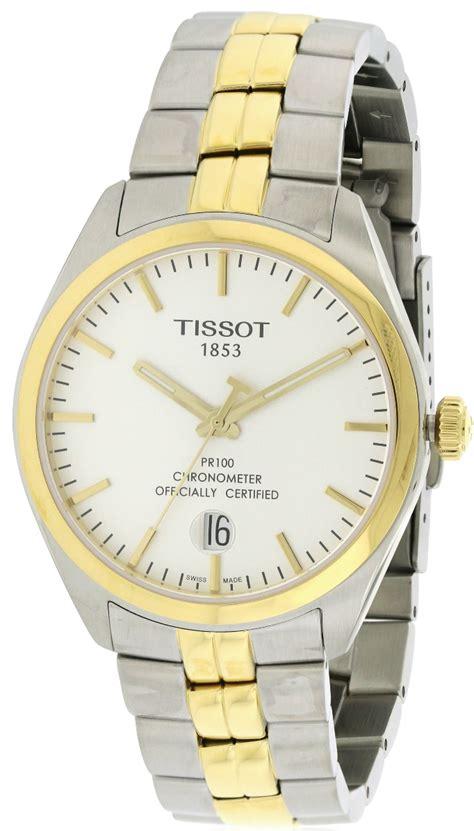 Tissot Pr 100 Gent Silver Two Tone Stainless Steel T1014102203 tissot pr100 two tone mens t1014512203100 jacobtime