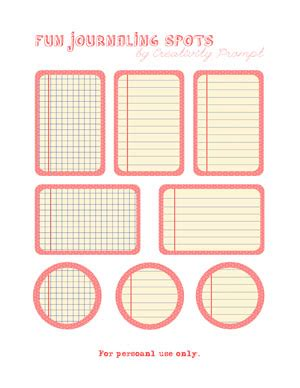 free printable journaling tags free printable fun journaling spots creativity prompt