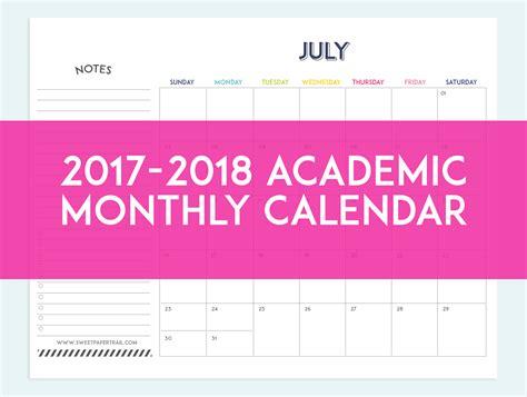 App State Academic Calendar Printable Academic Calendar 2017 2017 Printable