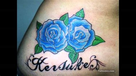rose tattoo symbolism pin blue meaning on