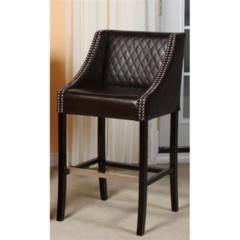 Brown Leather Bar Stools Brown Quilted Bonded Leather Bar Stool Design