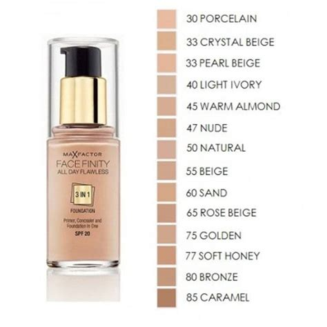 Foundation Max Factor max factor facefinity 3 in 1 flawless foundation 30ml