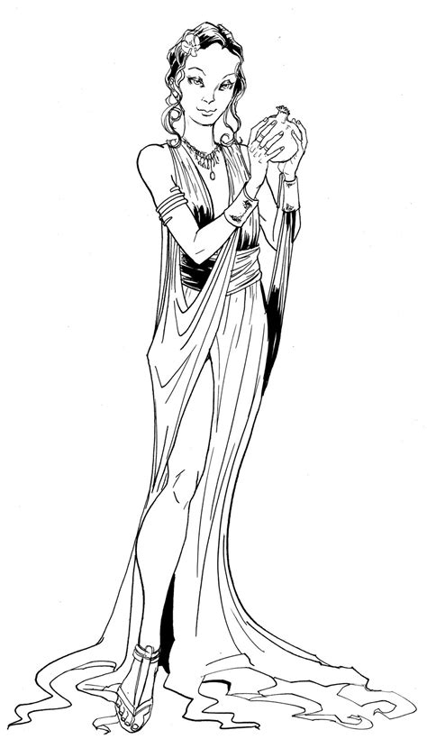 aphrodite easy coloring pages