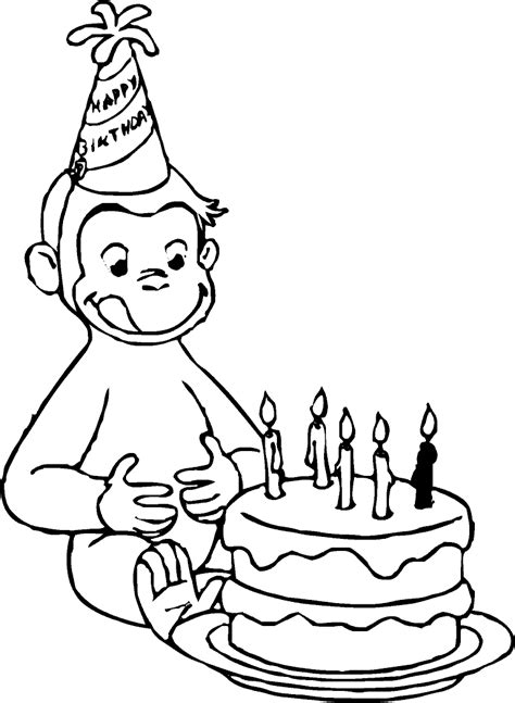 Merry Christmas Curious George Coloring Pages | merry christmas curious george coloring pages