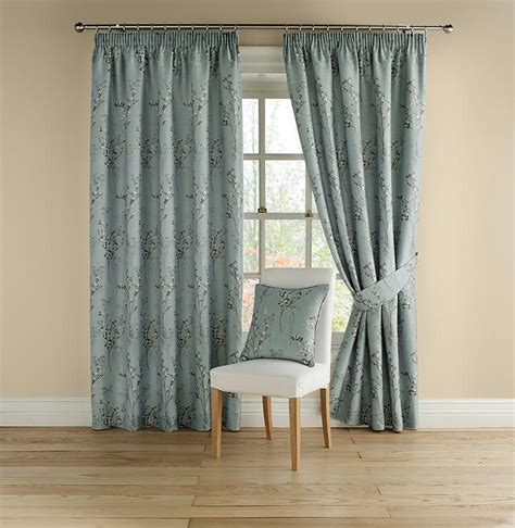 pencil pleat lined curtains buy montgomery pollen duck egg lined pencil pleat curtains