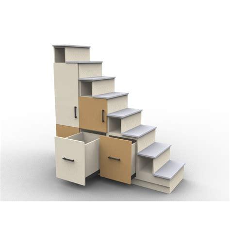 Lit Mezzanine Avec Escalier De Rangement by Meuble Escalier Sur Mesure Et Personnalisable
