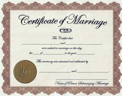 Procedure for Application of Marriage Certificate in