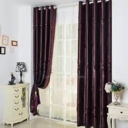 Purple Room Darkening Curtains Modern Curtains Solid Purple Room Darkening Lines Embossed